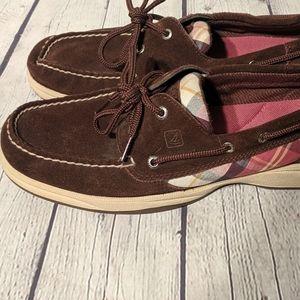 SPERRY BLUEFISH TOP SIDER Boat Shoes Brown Leather